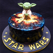 celebration cake - yoda star wars